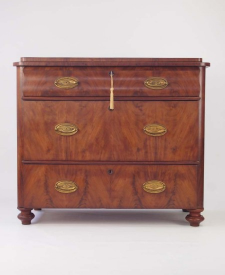 Antique Mahogany Biedermeier Chest Drawers