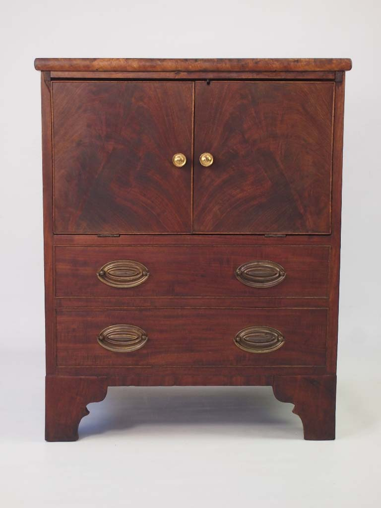 Antique Georgian Mahogany Side Cabinet For Sale