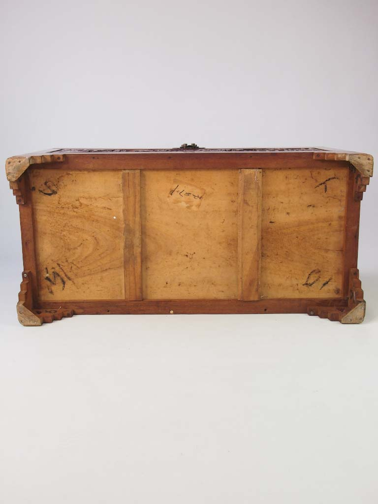 Vintage carved asian camphor wood chest for sale for Reclaimed wood furniture colorado