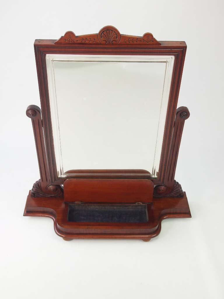 Large Victorian Mahogany Dressing Mirror For Sale