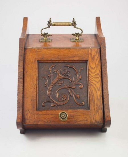 Edwardian Oak Coal Scuttle
