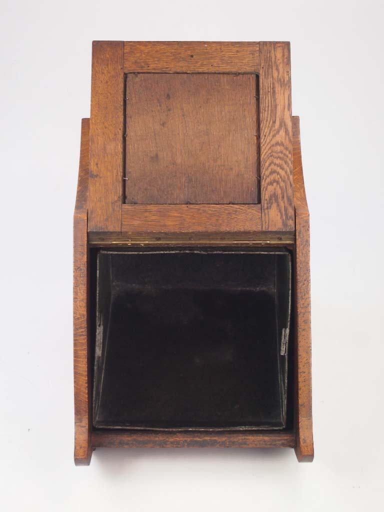 Antique Edwardian Oak Coal Scuttle Log Bin