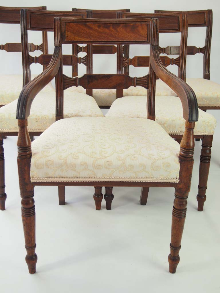 antique dining chairs set 6 antique regency mahogany dining chairs for 1268