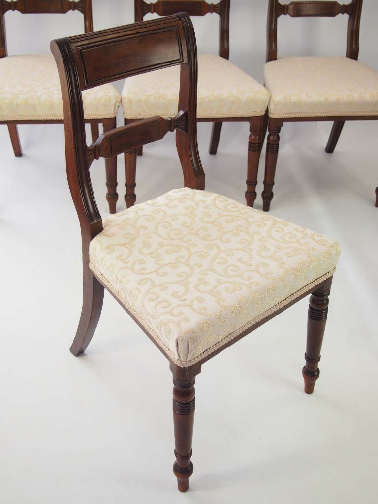 Antique Dining Chairs >> Set 6 Antique Regency Mahogany Dining Chairs For Sale