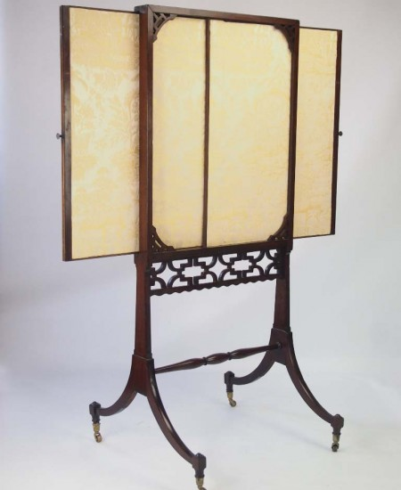Antique Georgian Mahogany Fire Screen