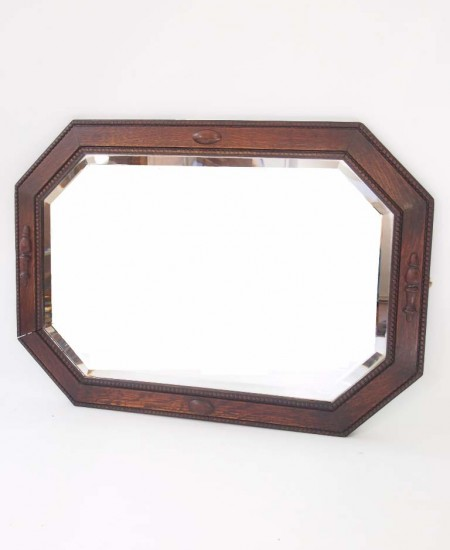 Oak Wall Mirror Circa 1920s