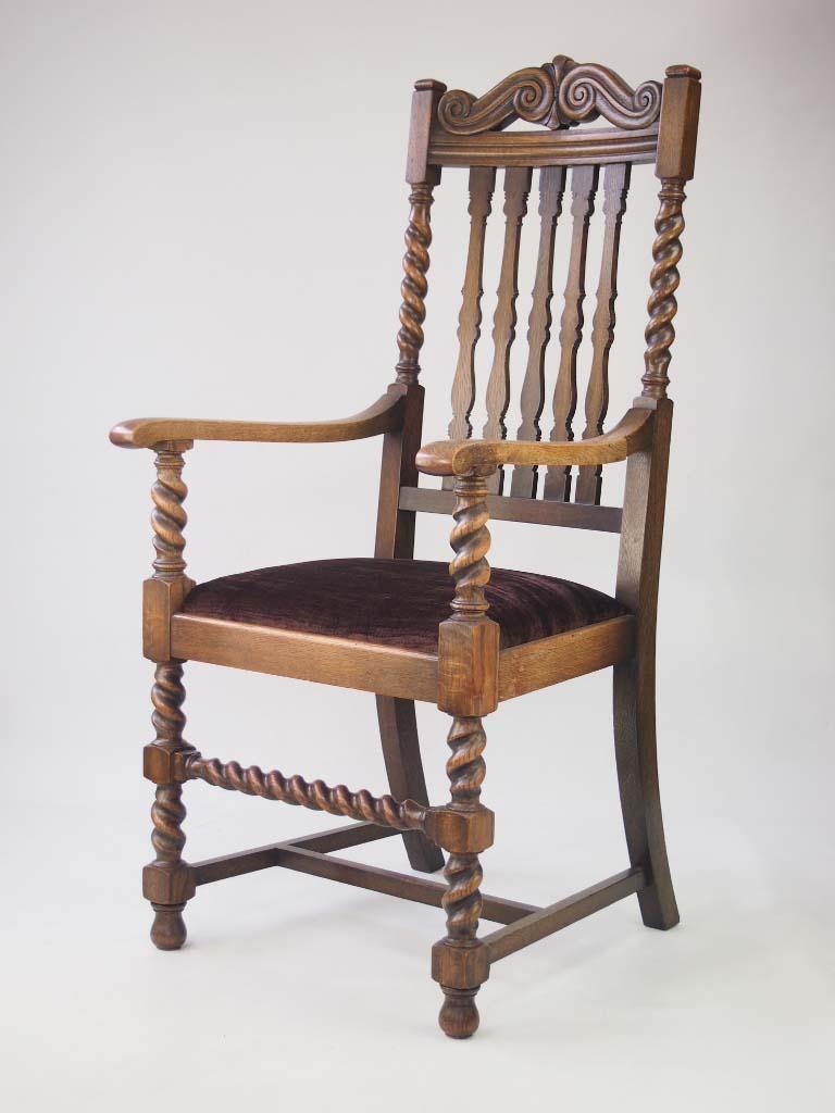 Oak Armchair Circa 1930s For sale
