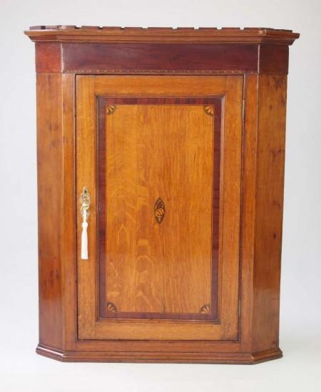 Georgian Oak Corner Cupboard