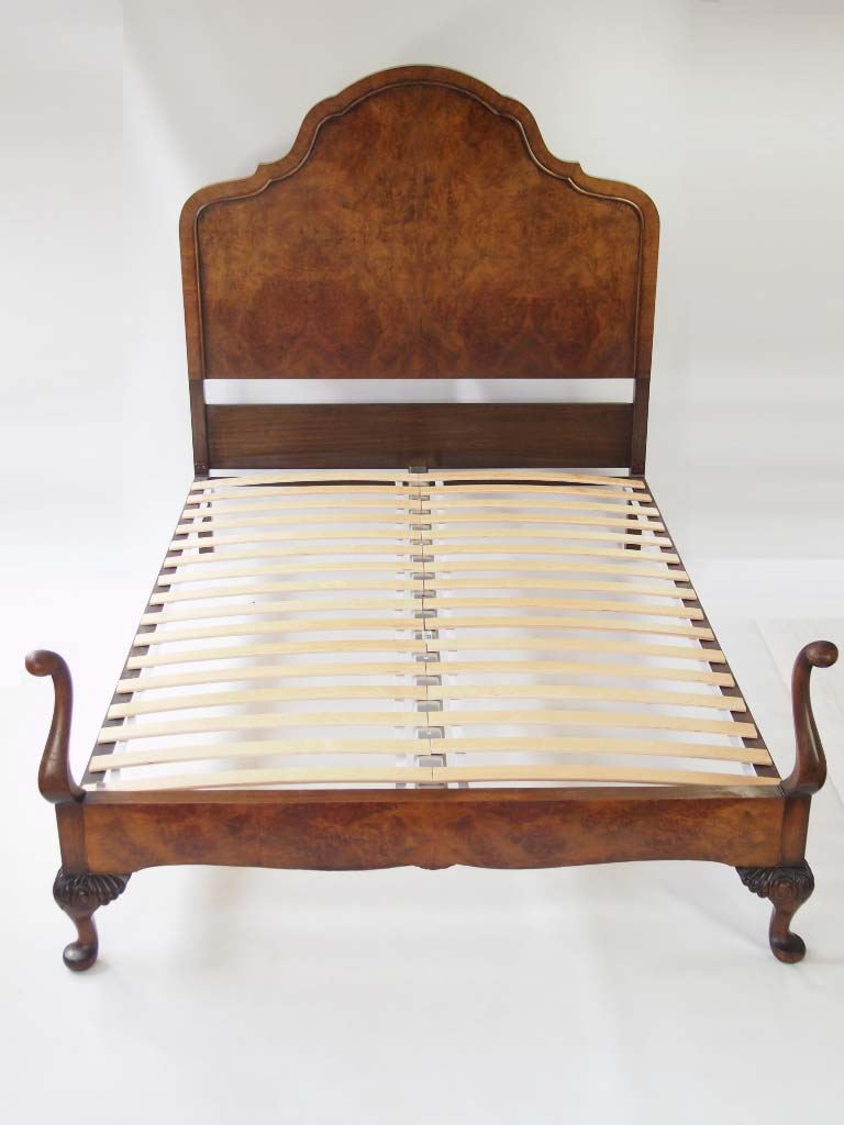 Edwardian (1901-1910) Independent Antique/vintage Carved French Oak Double Bed