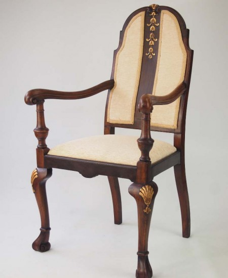 Walnut and Gilt Armchair Circa 1920s