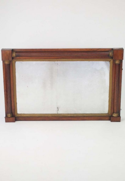 Antique Regency Rosewood Overmantle Mirror
