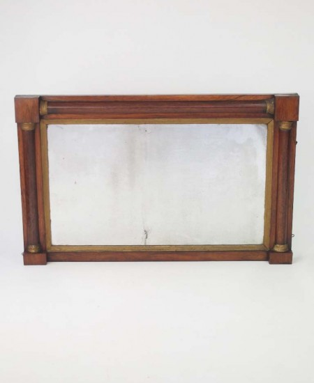 Antique Regency Rosewood Overmantle Mirror