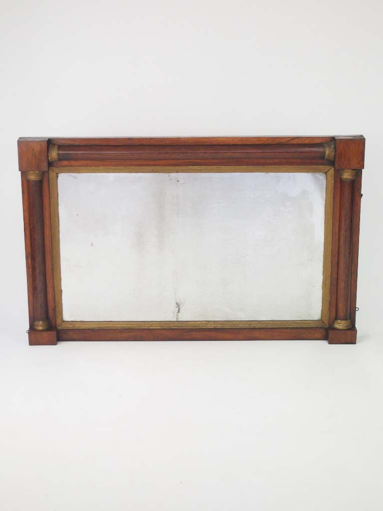 Antique Regency Rosewood Overmantle Mirror For Sale