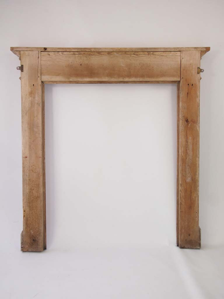 Small Early 20th Century Pine Fire Surround For Sale