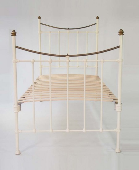 Antique Victorian Single Brass Bed