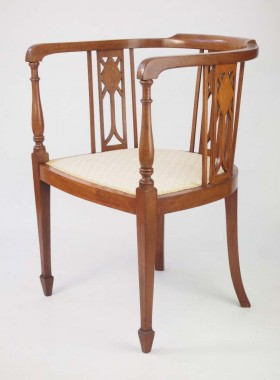 Edwardian Mahogany Tub Chair