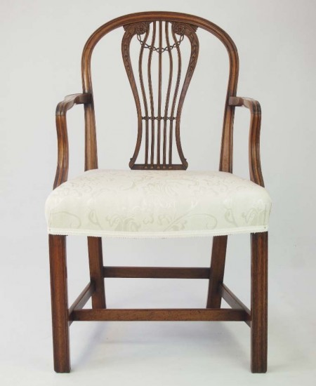 Antique Georgian Hepplewhite Open Armchair