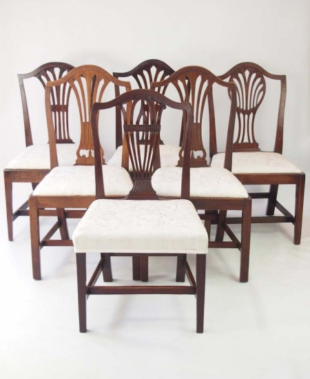 Harlequin Set 6 Georgian Country Chairs