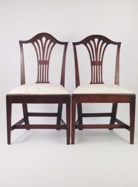 Harlequin Set 6 Georgian Country Chairs