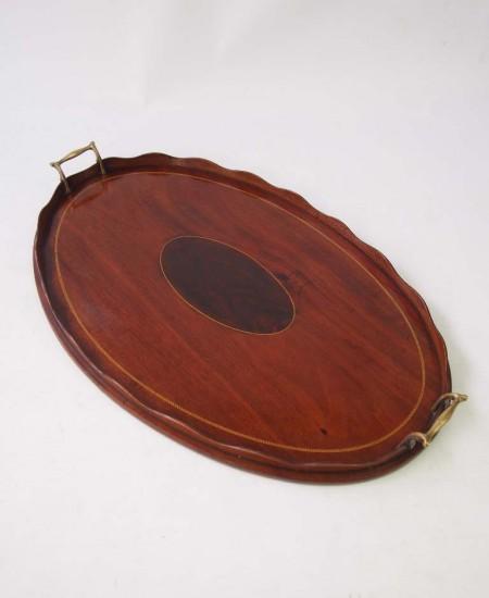 Antique Edwardian Mahogany Tray
