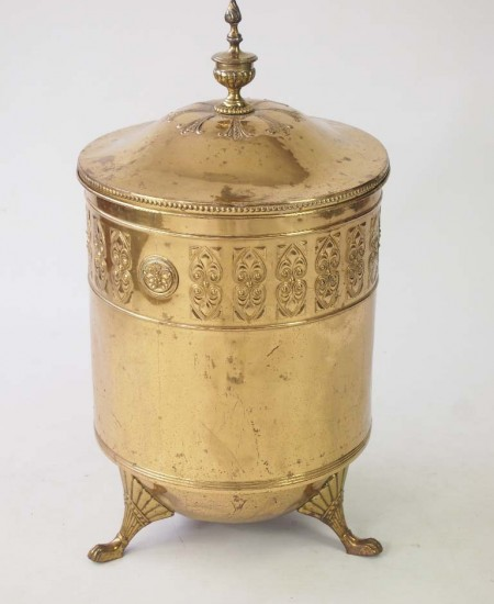 Antique Brass Log Bin