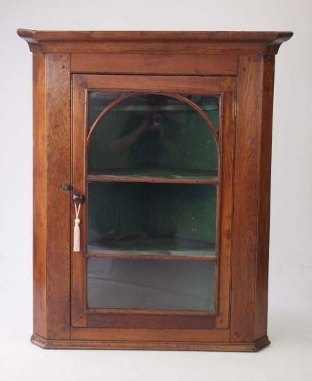 Antique Oak Corner Cupboard