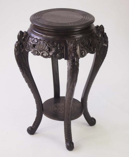 Vintage Carved Chinese Plant Stand