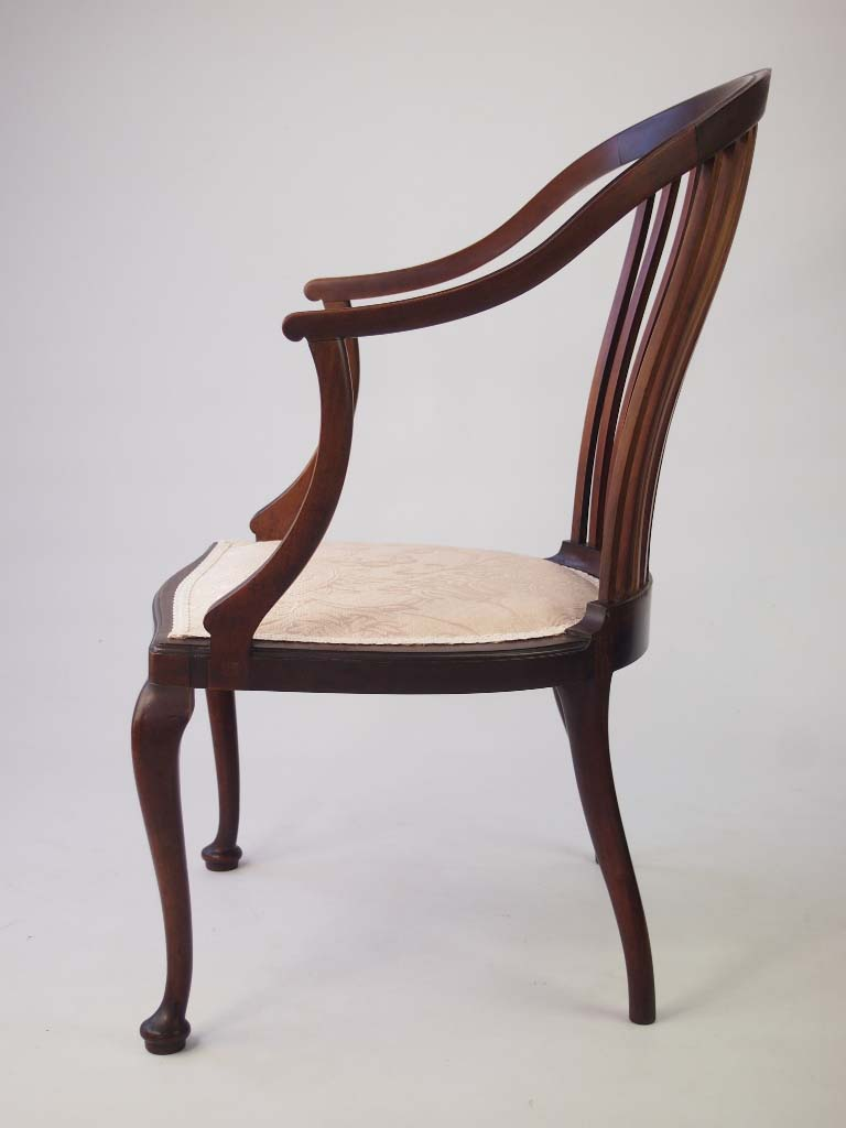 small edwardian mahogany tub chair 17210 | p1015971 768x1024