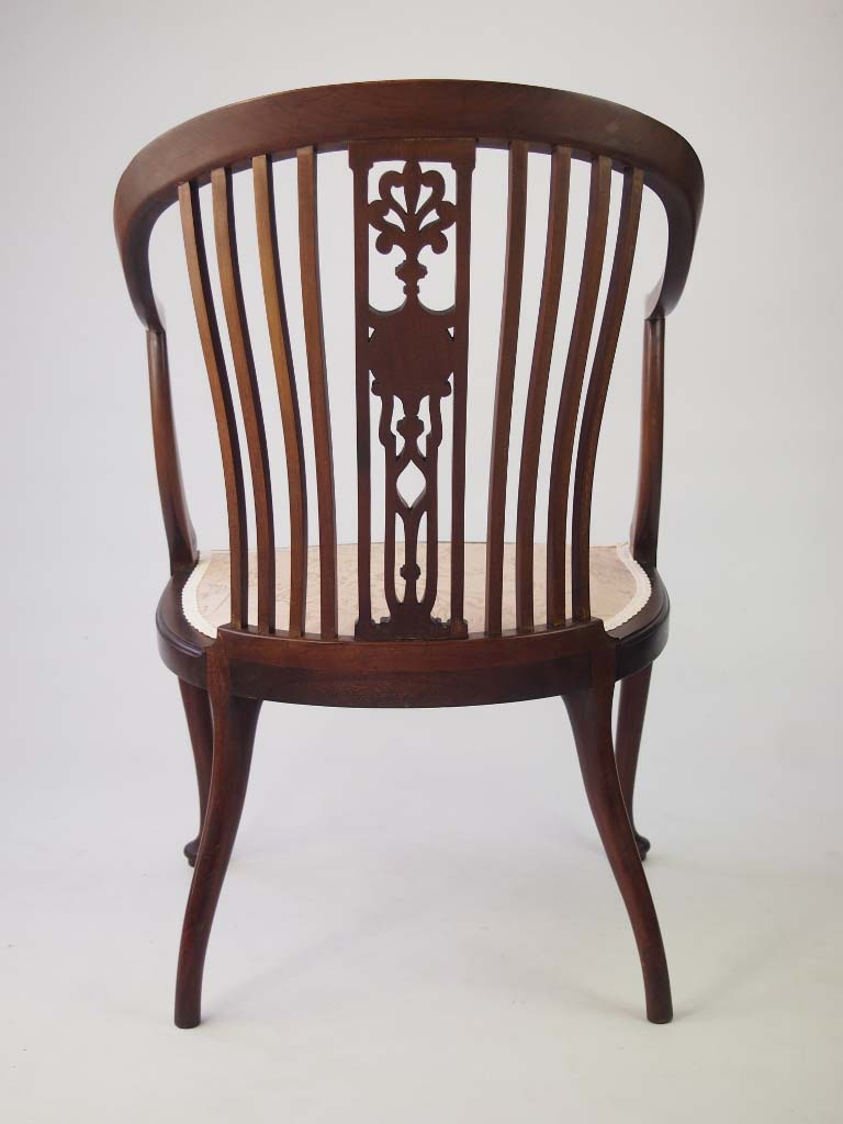 small edwardian mahogany tub chair 17210 | p1015973 768x1024