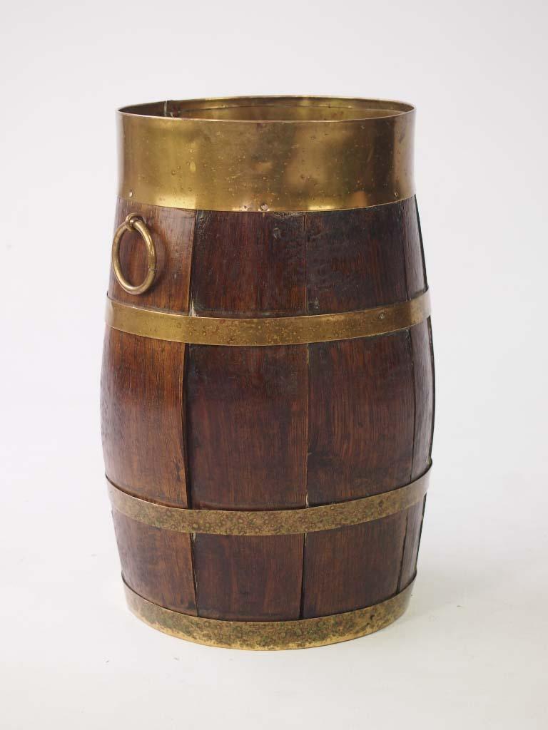 Small Oak Barrel Stick Umbrella Stand
