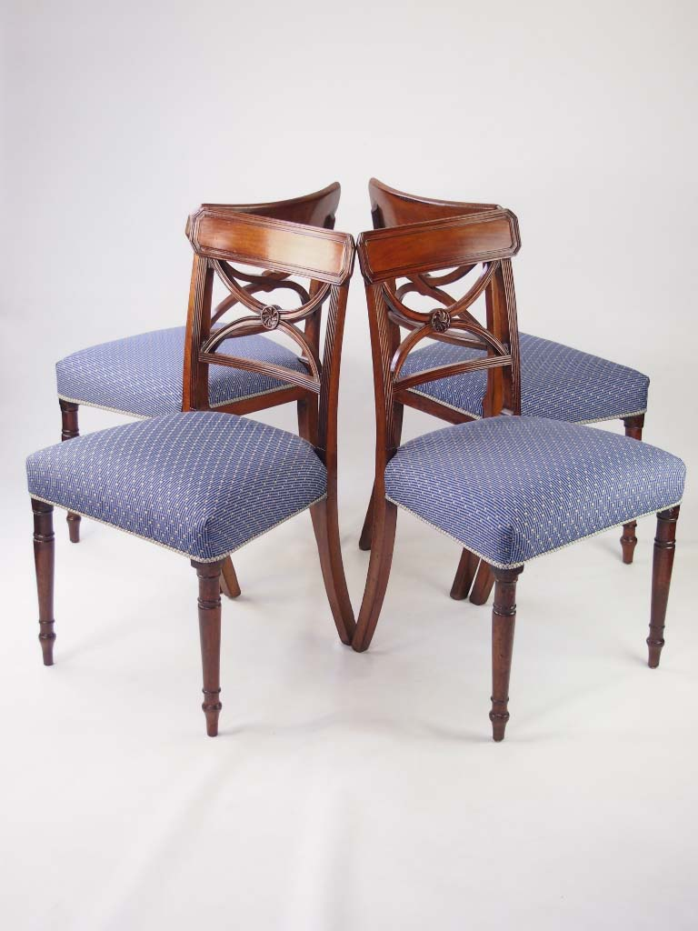 set 4 antique georgian dining chairs. Black Bedroom Furniture Sets. Home Design Ideas