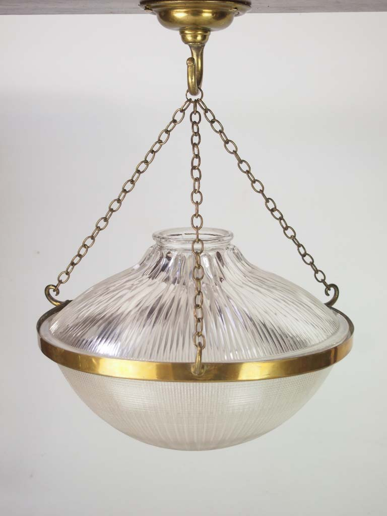 Holophane Prismatic Ceiling Light Shade Stamped 1909