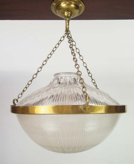 Holophane Ceiling Light Shade Stamped 1909