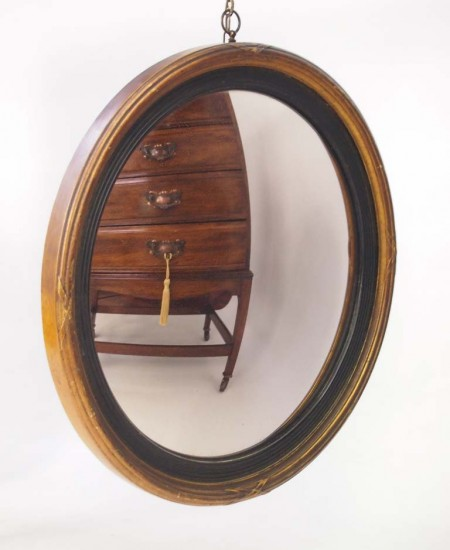 Antique Convex Wall Mirror Circa 1830