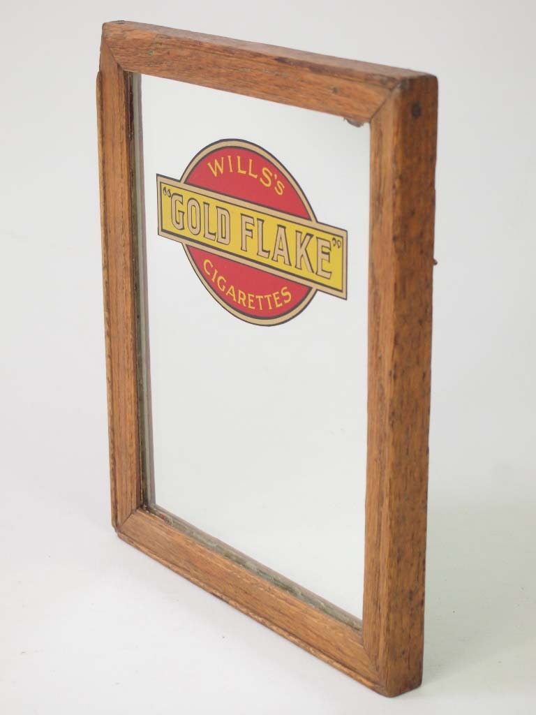 Small Vintage Advertising Mirror Quot Wills S Gold Flake Quot