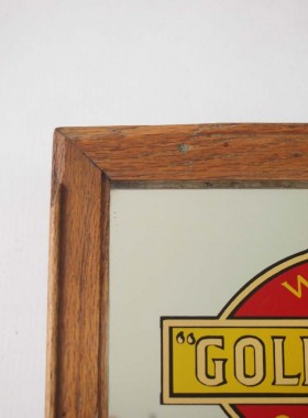 """Small Vintage Advertising Mirror """"Wills's Gold Flake"""""""