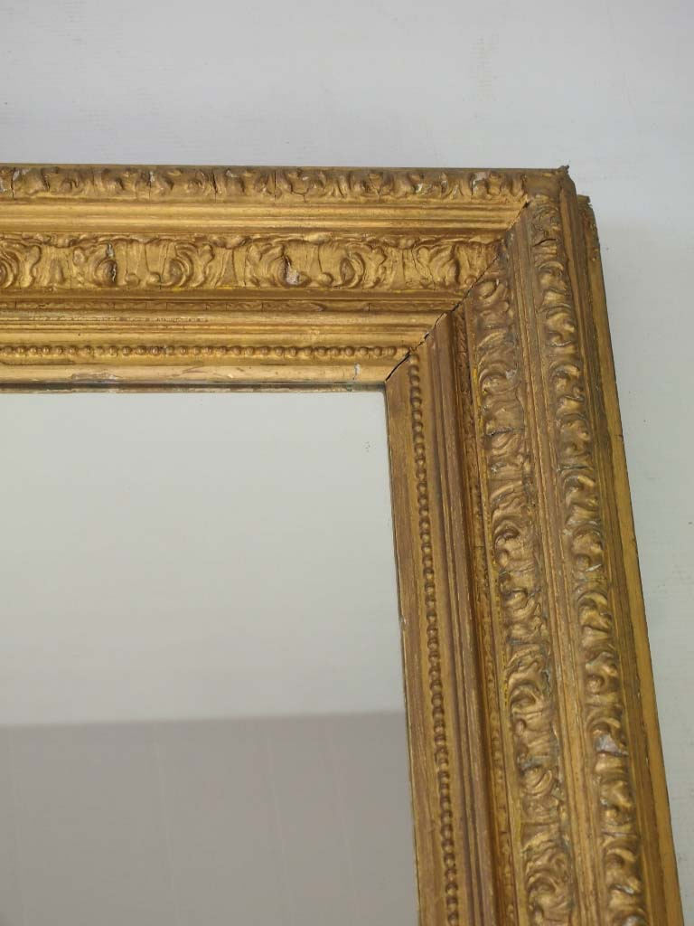 Large Antique Gilt Wall Mirror