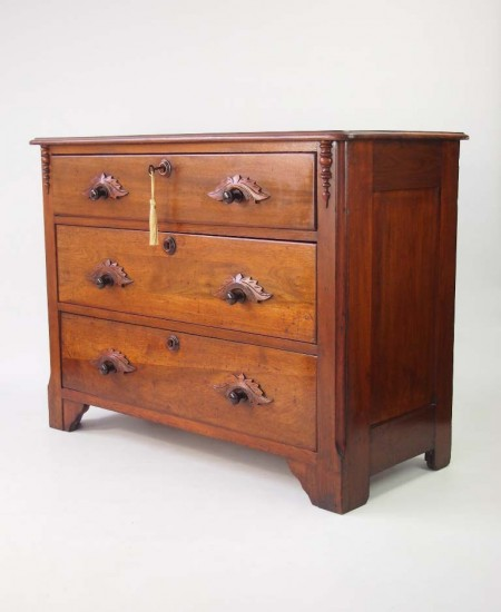 Antique Continetal Mahogany Chest Drawers