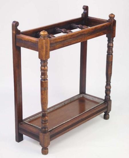 Antique Oak Stick Stand