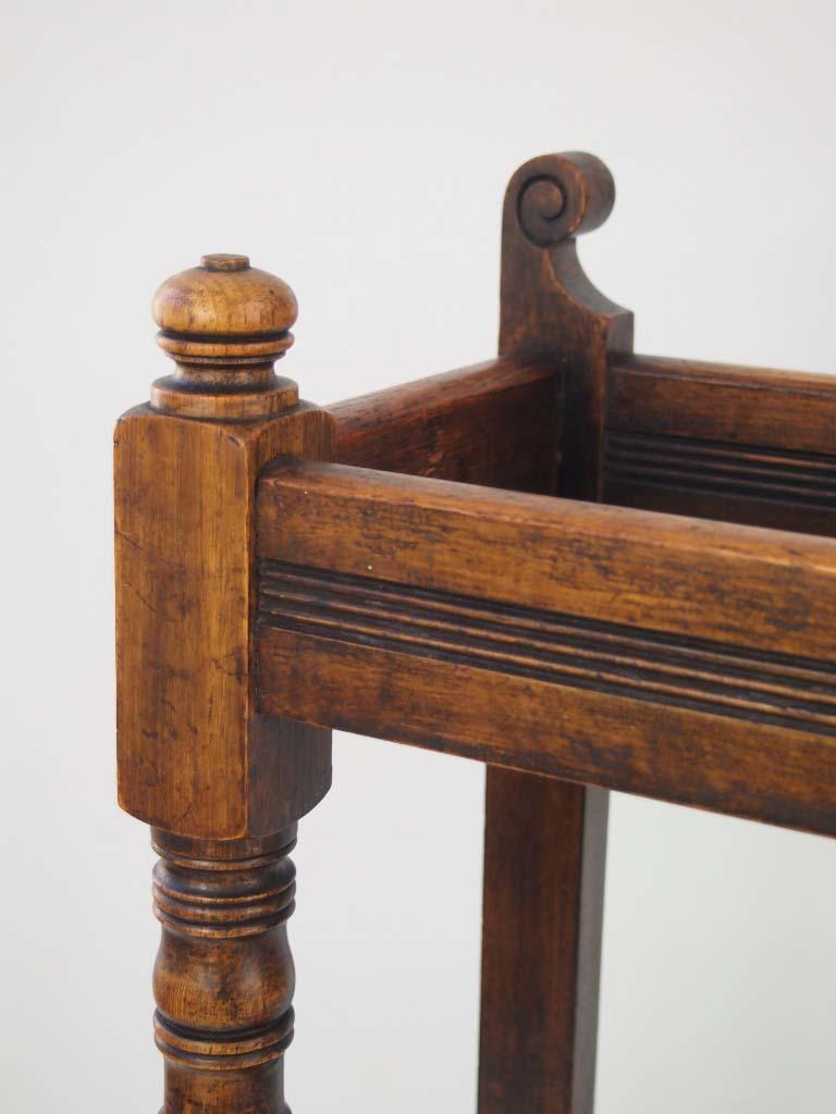 Antique Victorian Oak Stick Stand Umbrella Stand
