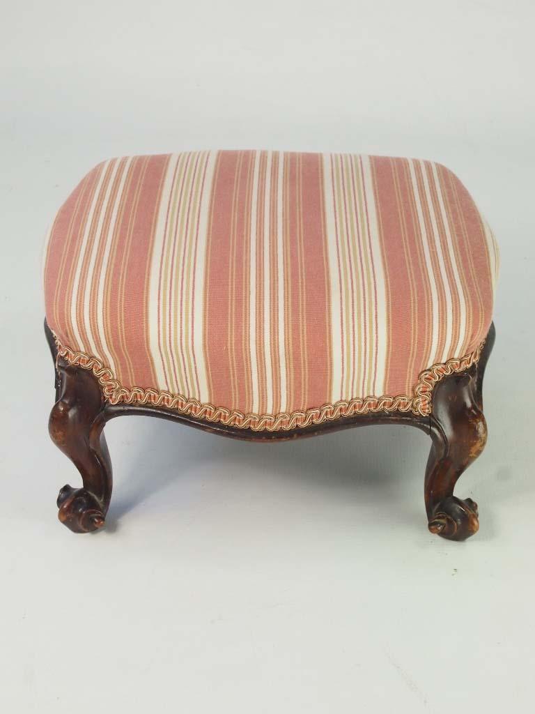 Antique Victorian Walnut Footstool