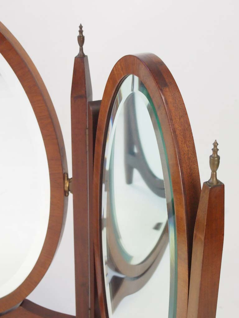 Vintage Mahogany Triple Dressing Table Mirror