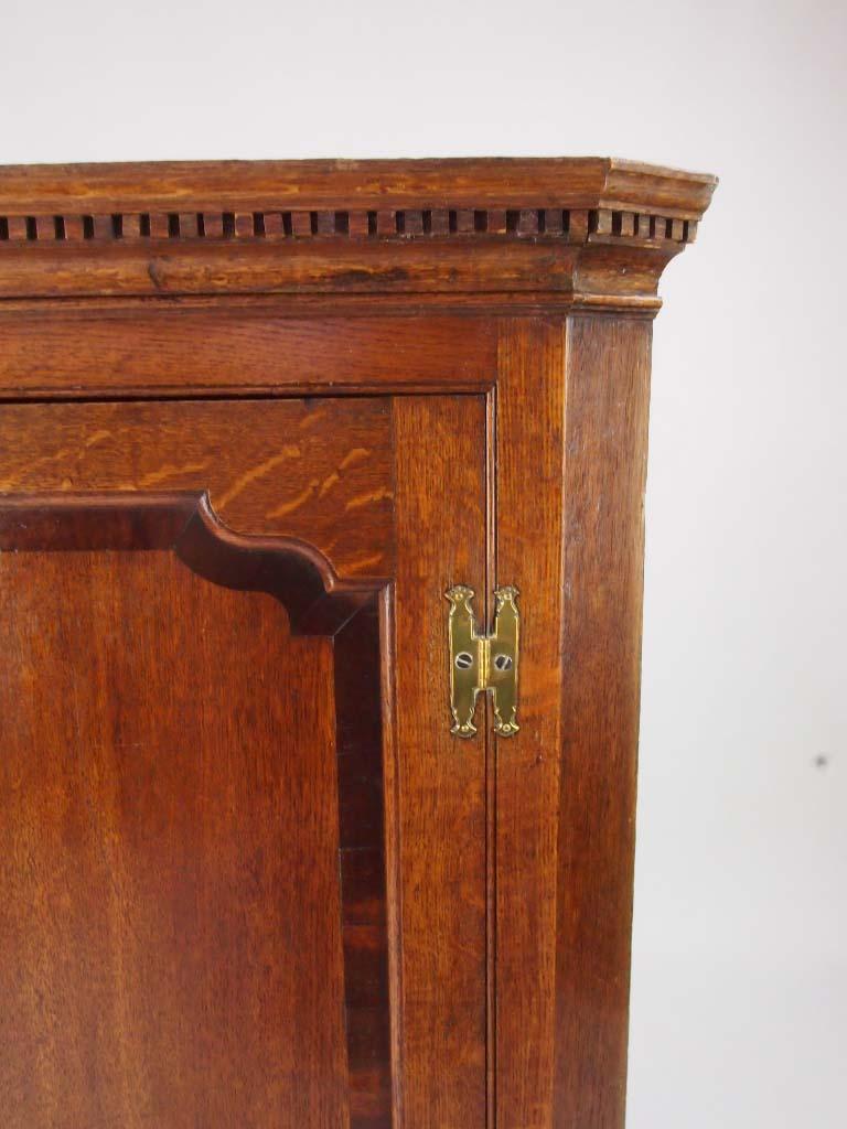 Antique Georgian Oak Hanging Corner Cupboard