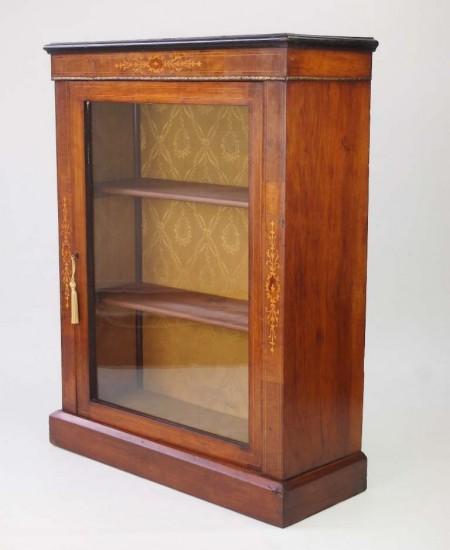 Antique Victorian Mahogany Pier Cabinet