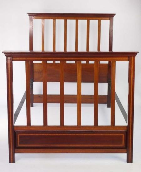 Antique Edwardian Mahogany Bed