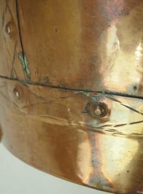 Large Victorian Copper Log Bin