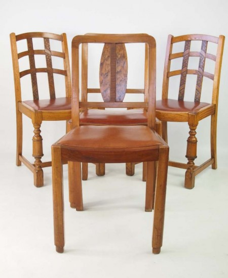 Harlequin Set of 4 Chairs Circa 1930