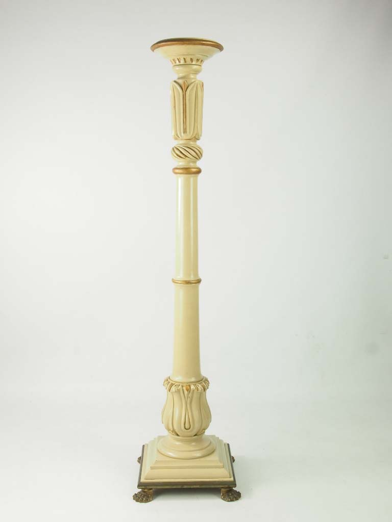 Tall Painted Torchere Plant Stand