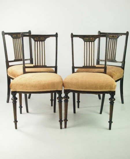 Set 4 Antique Dining Chairs