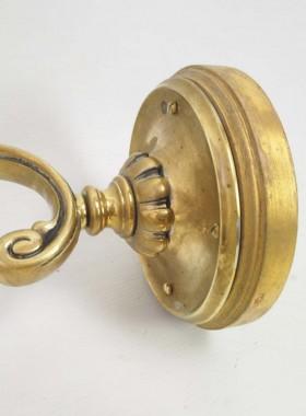 Pair Antique Brass Wall Lights